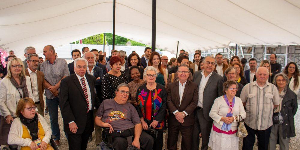 Inauguration 1ère pierre Entraigues 14 juin 2019